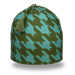 Olive Houndstooth Swift Toque_1