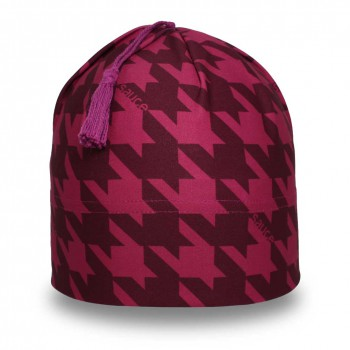 Plum Houndstooth Swift Toque_1