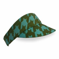 Olive Houndstooth Flight Visor