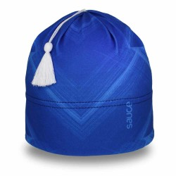 Sapphire Glow Swift Toque with Traditional Tassel